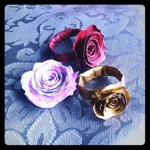 Custom Paper Rose 🌹 rings, 3D Stickers